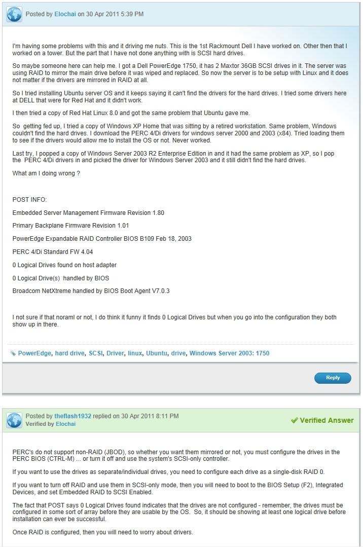 Installing Windows XP on a Dell PowerEdge 1750 Server